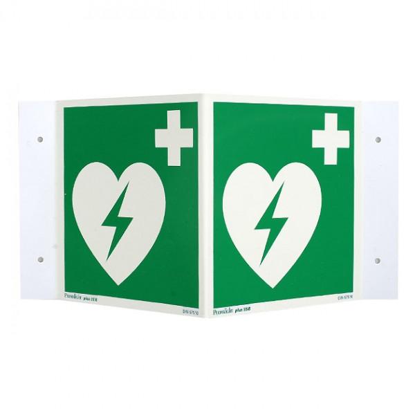 AED rechtwinkliches Namensschild